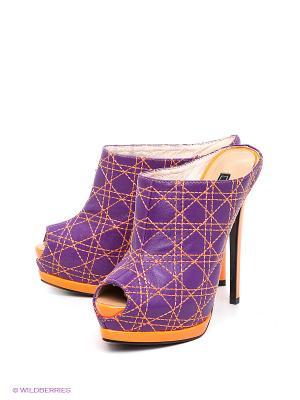Сабо Vitacci. Цвет: фиолетовый, оранжевый
