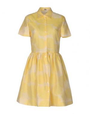Короткое платье JOURDEN. Цвет: желтый