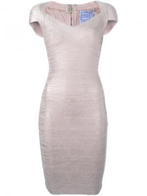 Платье Tejana Hervé Léger. Цвет: розовый и фиолетовый
