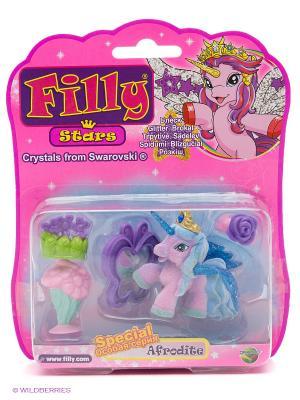 Игровой набор лошадки Филли/Filly Звезды  1 фигурка с аксессуарами Afrodite Dracco. Цвет: розовый