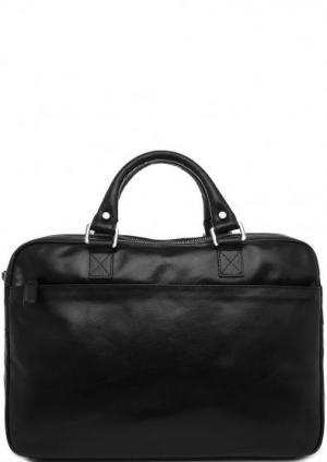 Черная кожаная сумка на молнии с двумя ручками Picard. Цвет: черный