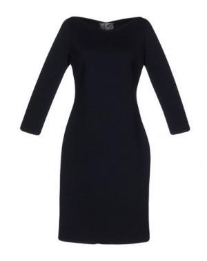 Платье до колена ES'GIVIEN. Цвет: темно-синий