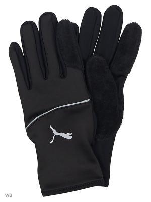 Перчатки PR Thermo Gloves PUMA. Цвет: черный
