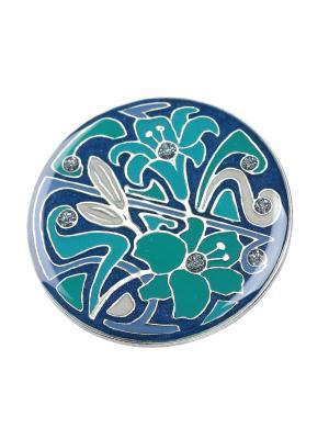 Брошь Clara Bijoux. Цвет: синий, бирюзовый, зеленый