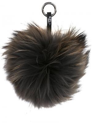 Меховой брелок N.Peal. Цвет: чёрный