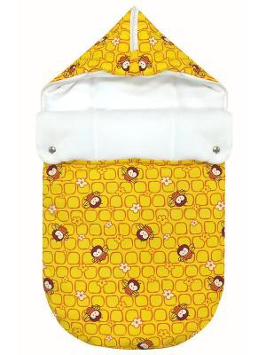 Конверт на выписку JustCute Пчелки (весна) СуперМаМкет. Цвет: желтый