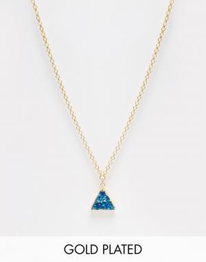 Only Child Ожерелье с подвеской-пирамидой Crystal. Цвет: серый