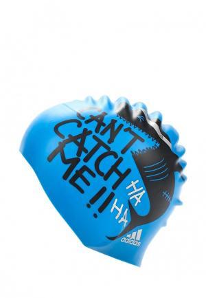 Шапочка для плавания adidas. Цвет: синий