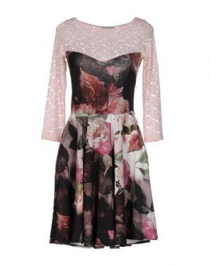 Короткое платье ANGELA MELE MILANO. Цвет: светло-розовый