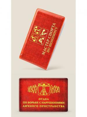 Набор Чехол для карт Мастер спорта по шопингу и на проездной Отдел борьбе с нарушениями Бюро находок. Цвет: красный