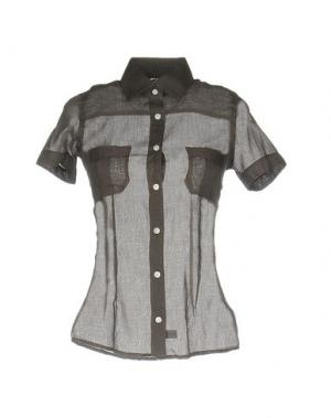 Pубашка BARBA Napoli. Цвет: темно-коричневый