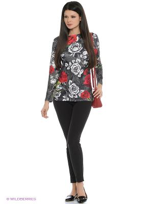 Джемпер Taya jeans. Цвет: темно-серый, красный