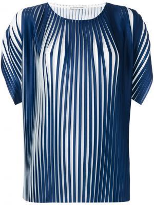 Плиссированная футболка Stefano Mortari. Цвет: синий