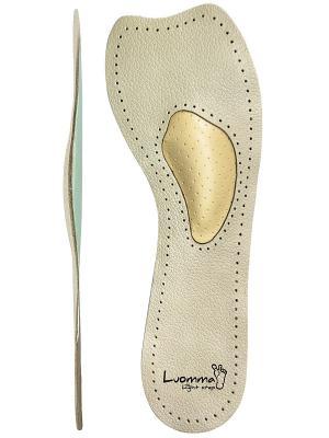 Полустельки ортопедические бескаркасные Luomma. Цвет: бежевый