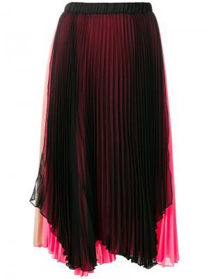 Плиссированная юбка с контрастным дизайном Loyd/Ford. Цвет: многоцветный