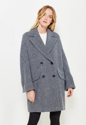 Пальто Immagi. Цвет: голубой