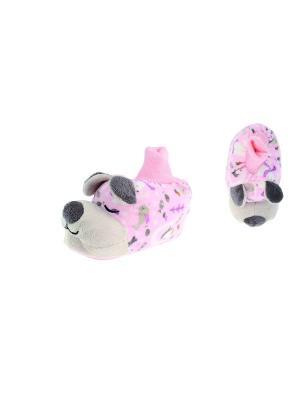 Тапочки De Fonseca. Цвет: розовый, светло-серый, серебристый