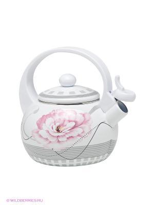 Чайник Winner. Цвет: белый, розовый