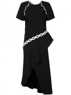 Asymmetric dress Jonathan Simkhai. Цвет: чёрный