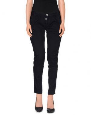 Повседневные брюки TIMEZONE. Цвет: темно-синий