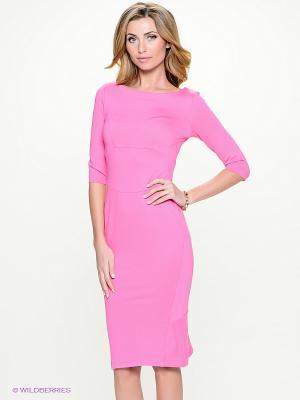 Платье Анна Чапман. Цвет: розовый