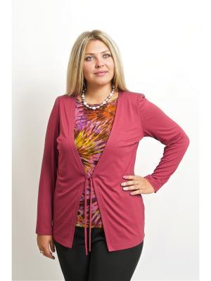 Блуза BALSAKO. Цвет: темно-бордовый
