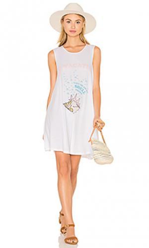 Платье shell phone The Laundry Room. Цвет: белый