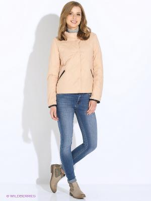 Куртка Sisley. Цвет: кремовый