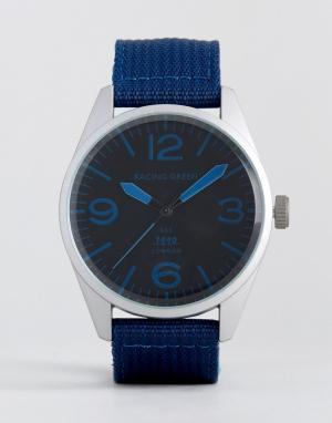 Racing Green Часы с темно-синим нейлоновым ремешком. Цвет: темно-синий