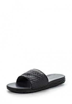Шлепанцы Nike. Цвет: черный