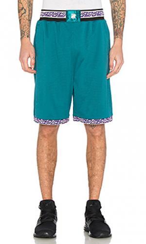 Баскетбольные шорты authentic Undefeated. Цвет: сине-зеленый