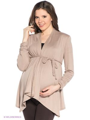 Кардиган для беременных ФЭСТ. Цвет: бежевый
