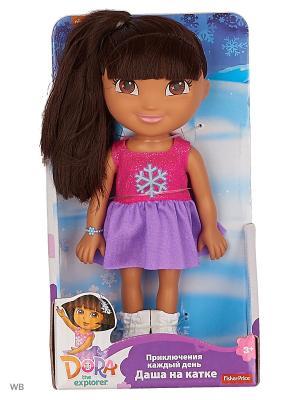 Даша-путешественница Даша на катке Mattel. Цвет: фиолетовый, красный