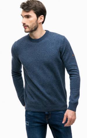 Джемпер с высоким содержанием шерсти NAVIGARE. Цвет: синий