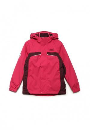Куртка утепленная Jack Wolfskin. Цвет: розовый