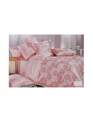 Комплект постельного белья 4 предмета HAMRAN. Цвет: розовый