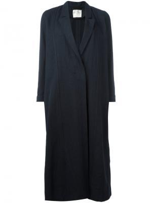 Однобортное пальто Forte. Цвет: синий