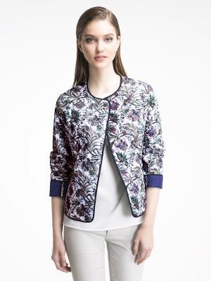 Куртка Pompa. Цвет: белый, сиреневый