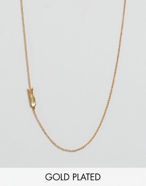 Gorjana Ожерелье со знаком зодиака Близнецы. Цвет: золотой