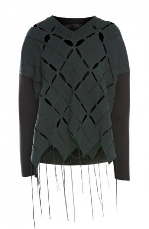 Пуловер джерси Proenza Schouler. Цвет: темно-серый