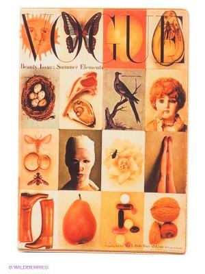 Обложка для паспорта Vogue Mitya Veselkov. Цвет: оранжевый, кремовый