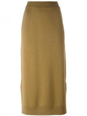 Длинная юбка с завышенной талией Enföld. Цвет: зелёный