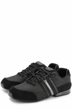 Комбинированные кроссовки на шнуровке Y-3. Цвет: черный