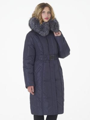 Утепленное  пальто Black Daffodil. Цвет: темно-серый
