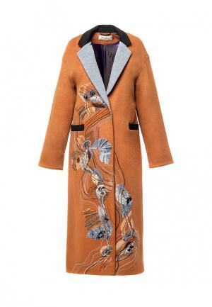 Пальто Yukostyle. Цвет: оранжевый