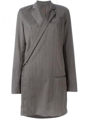 Платье-блейзер A.F.Vandevorst. Цвет: серый