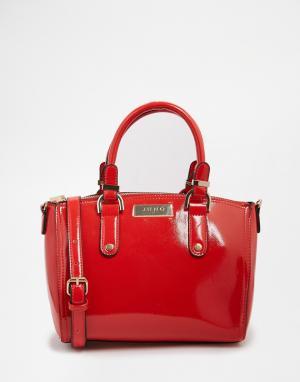 Juno Accessories Лакированная сумка-тоут. Цвет: красный