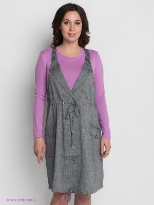 Платье Gemko. Цвет: серый