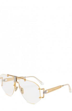 Солнцезащитные очки Céline Eyewear. Цвет: золотой