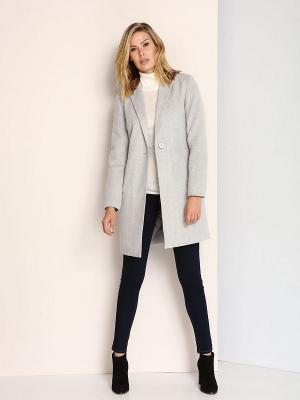 Пальто Top Secret. Цвет: светло-серый
